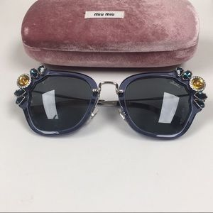 Miu Miu Crystal embellished sunglasses BNWOT